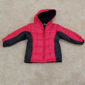 Atheltic Works Toddlers 4T Red/Black Jacket